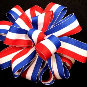 Polyester RWB ribbon wholesale registration