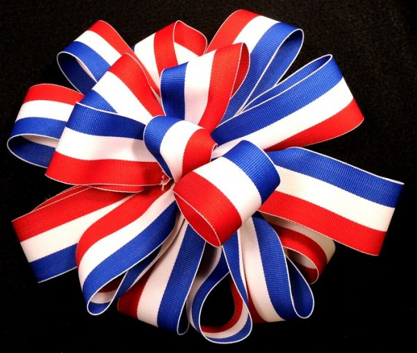 Polyester RWB ribbon wholesale registration