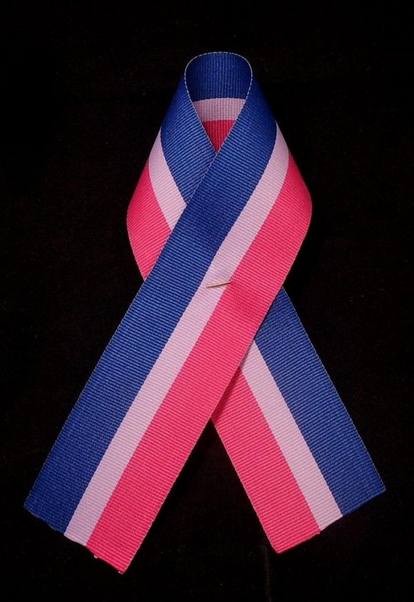Bisexual pride ribbon