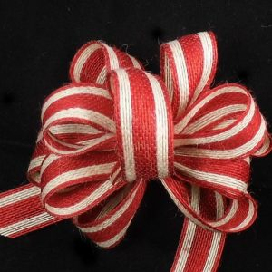 Striped Jute Ribbon