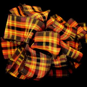 autumn plaid ribbon
