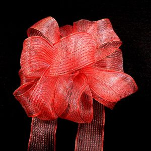 metallic sheer ribbon