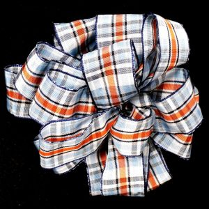 woven plaid ribbon