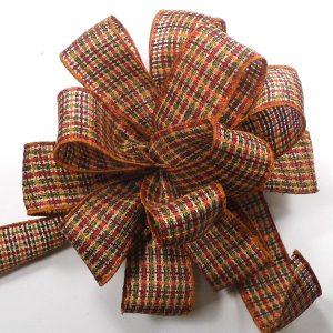 fall plaid ribbon