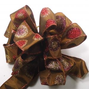 copper colored ribbon