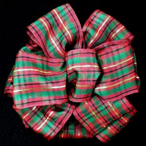burgundy plaid ribbon