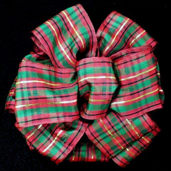 burgundy plaid ribbon