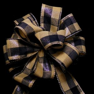 Navy plaid ribbon