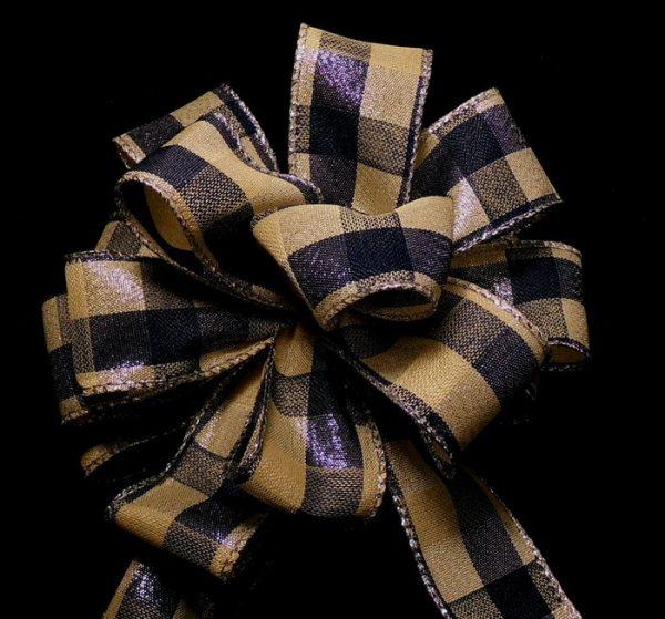 Navy plaid ribbon