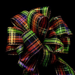 Halloween plaid ribbon