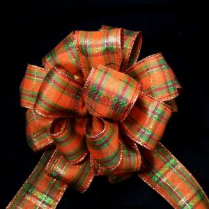 Orange Plaid RIbbon