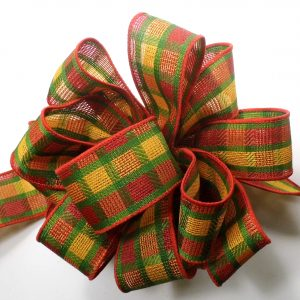 wired check pattern ribbon
