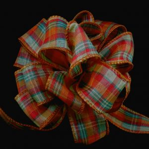 fall plaid ribbon