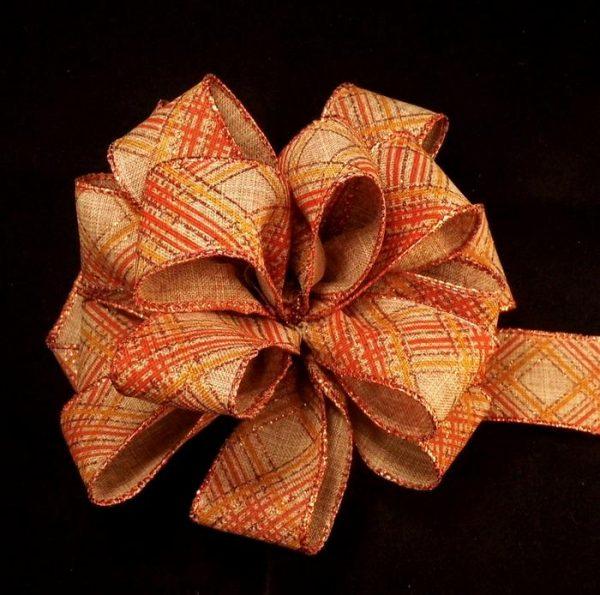 diagonal plaid ribbon