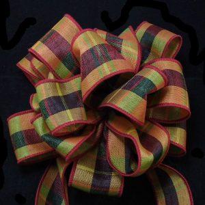 wired plaid ribbon