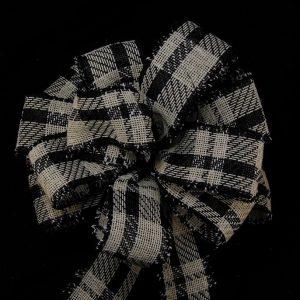 Black Plaid Ribbon