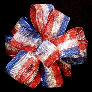 sheer patriotic ribbon
