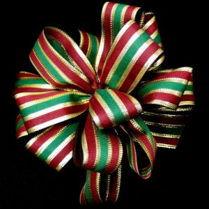 burgundy christmas ribbon