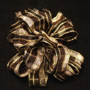 thin plaid ribbon