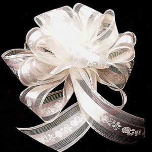 floral pattern wedding ribbon