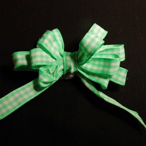 Wired gingham Check Ribbon