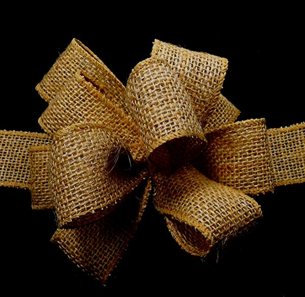 Wired Burlap Ribbon
