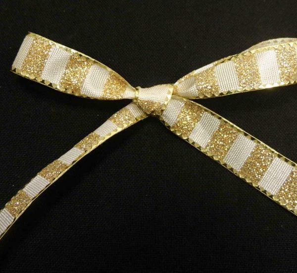 metallic striped ribbon