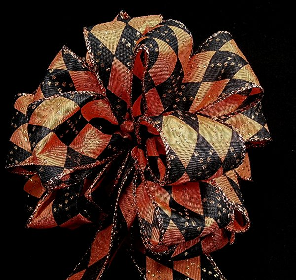 wired argyle ribbon