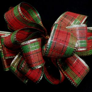 christmas plaid ribbon