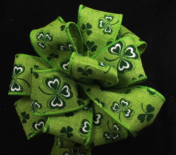 ribbon with clovers