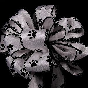 paw prints ribbon