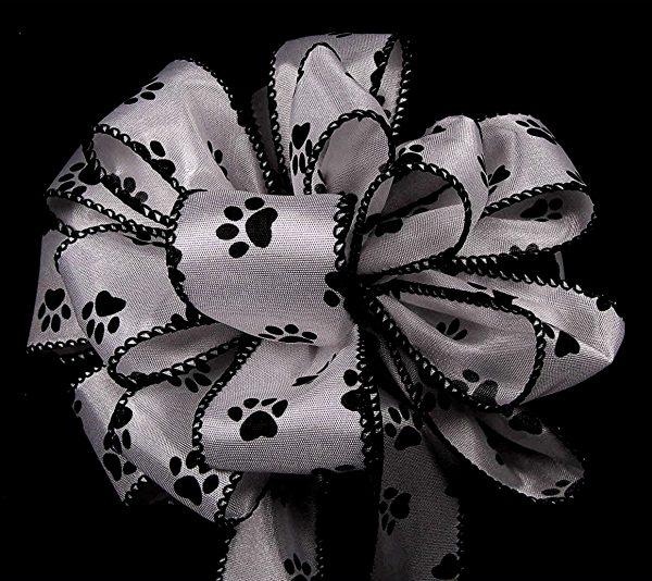 paw prints ribbon