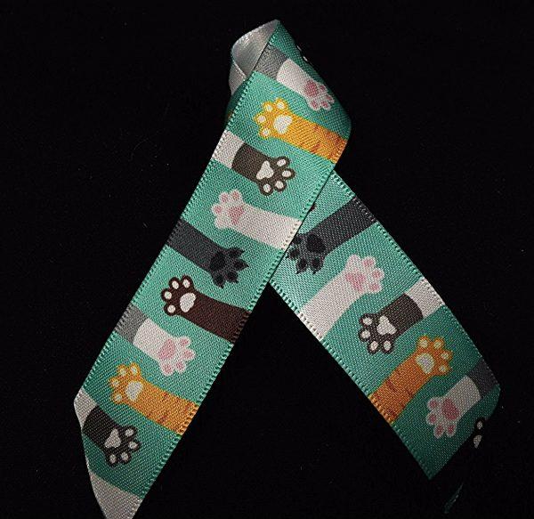 cat paw ribbon