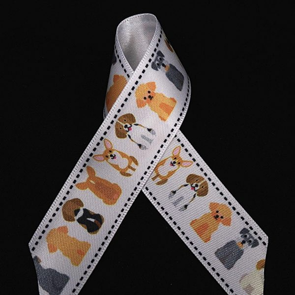 assorted dogs ribbon