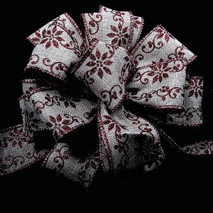 wired christmas pattern ribbon