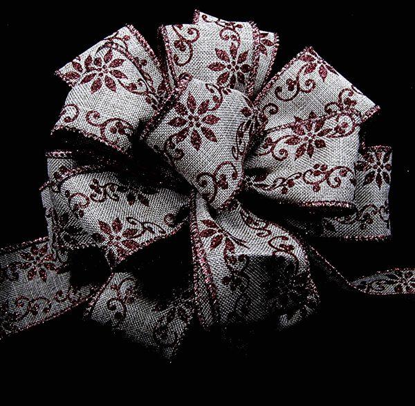 wired christmas pattern ribbon