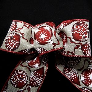 Christmas ornament ribbon