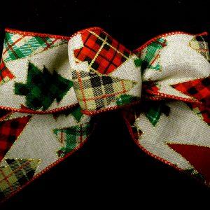 plaid christmas tree ribbon
