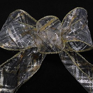 sheer plaid ribbon