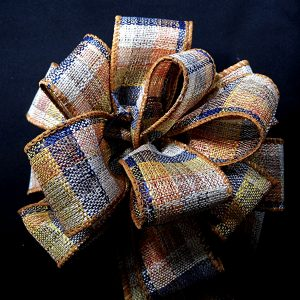 wired fall plaid ribbon