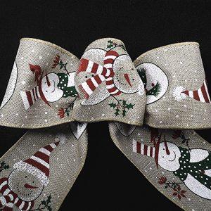 snowman pattern ribbon