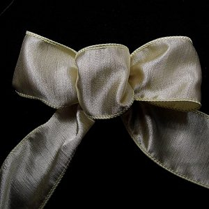 wired beige ribbon