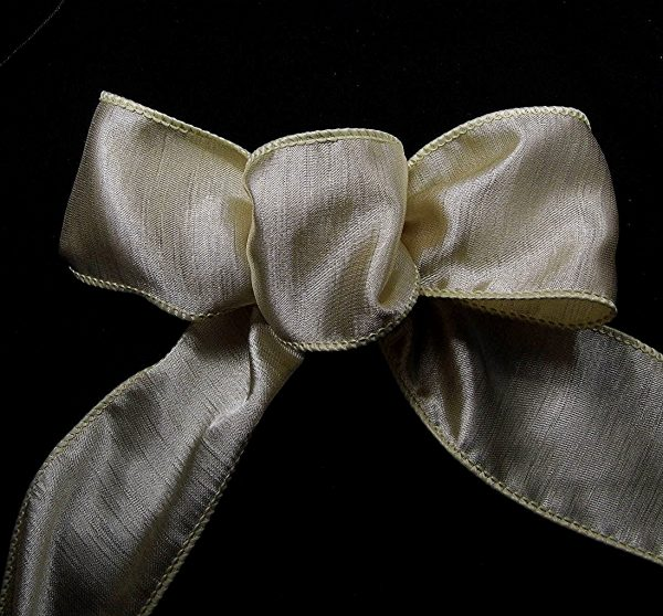 wired beige ribbon