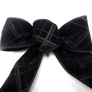 velvet plaid ribbon