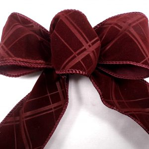 velvet plaid ribbon