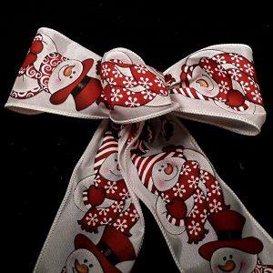 Wired Snowman Pattern Ribbon