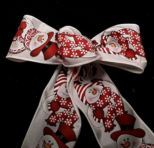 Wired Snowman Pattern Ribbon