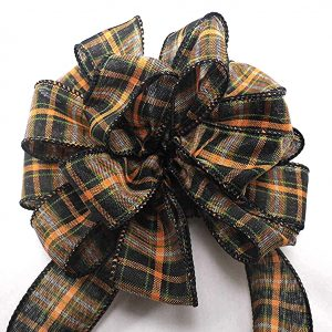 wired black plaid ribbon