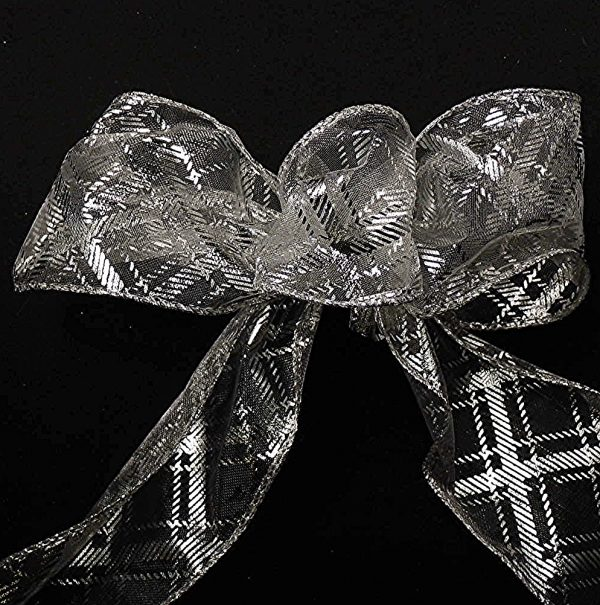 sheer plaid ribbon