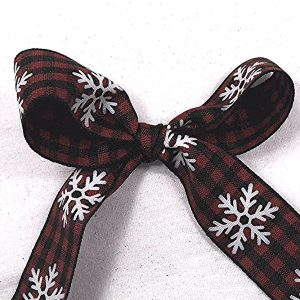 christmas buffalo plaid ribbon